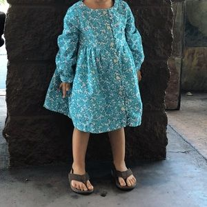 Baby Gap corduroy flowery dress 2T